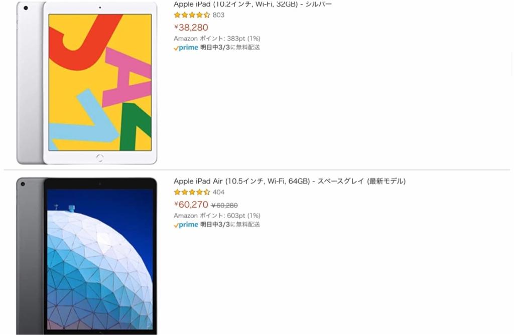 iPadの値段