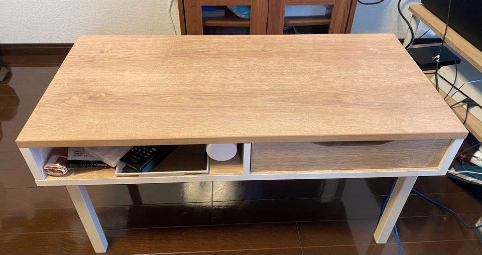 一人暮らしのローテーブル