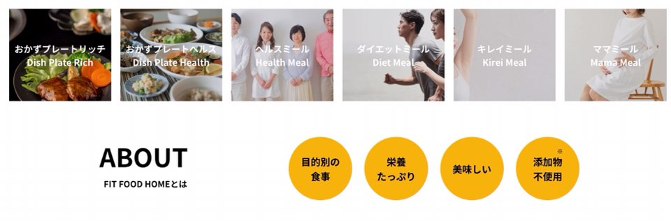 FIT FOOD HOMEのサービス紹介